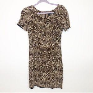 The Kooples Silk Cheetah Print Dress